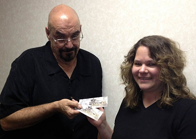Diane Rieger wins Sammy Tickets