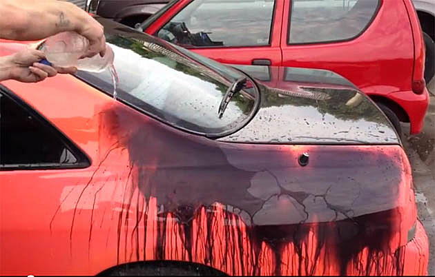 car changes color with change in temperature  video