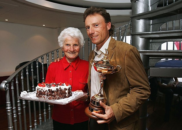 Black Forest Cake Held by Mother of Ryder Cup Captain Bernhard Langer, Andrew Redington, Getty Images
