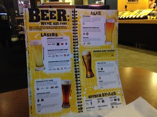 Buffalo Wild Wings Menu photo by MRorabeck Townsquare Media