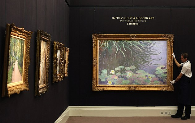 Claude Monet Painting in London 2013, Dan Kitwood, Getty Images