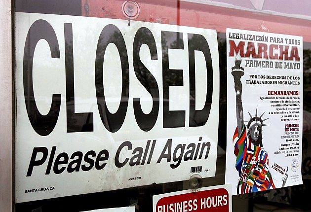 Closed Sign, Tim Boyle, Getty Images