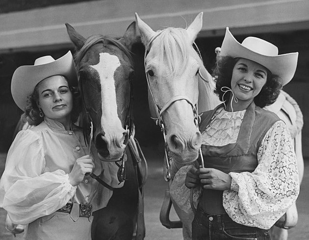 Cowgirls with their Horses in London 1952, Reg Speller Hulton Archives, Getty Images