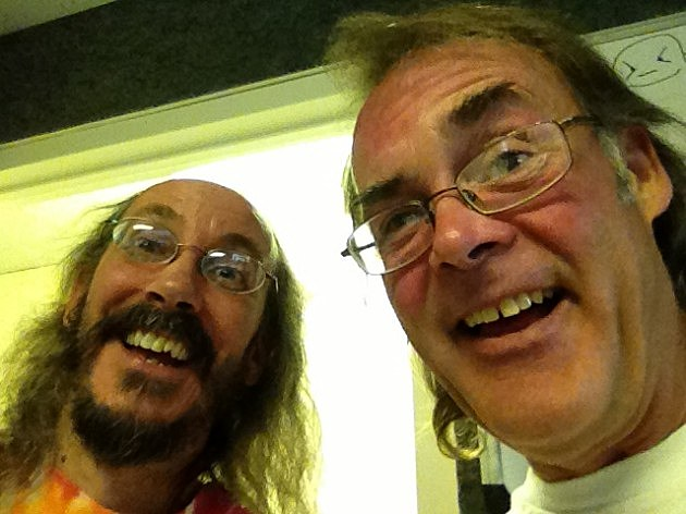 Grateful Mike with George Ball at the KING Studio 2013