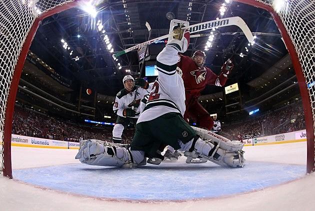 Goalie Niklas Backstrom, Christian Petersen, Getty Images