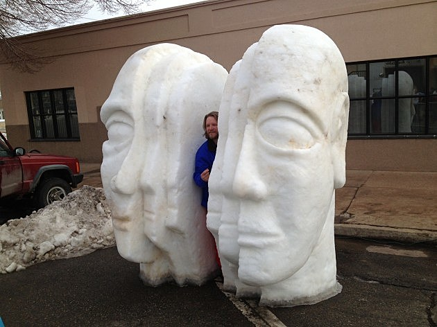 Loveland Snow Sculptures Faces Mike Rorabeck Townsquare Media