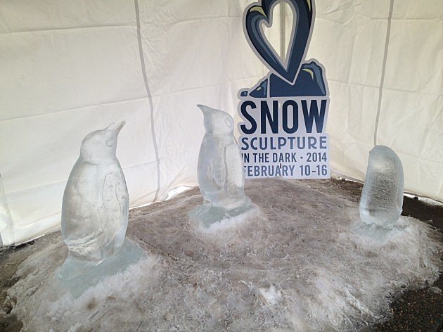 Loveland Snow Sculptures of Ice Penguins
