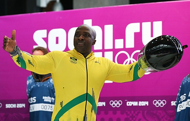 Jamaican bobsled driver Winston Watts in Sochi 2014