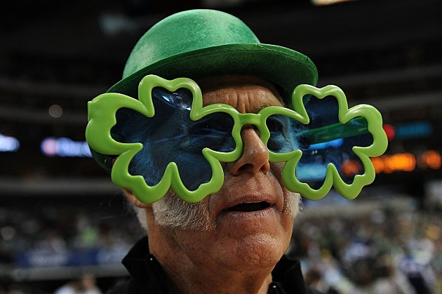 Man in Shamrock Glasses and Green Bowler Hat