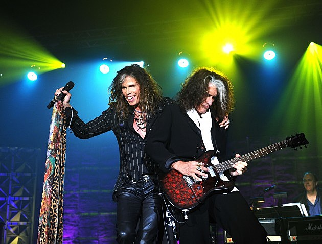 Steven Tyler and Joe Perry of Aerosmith 2013
