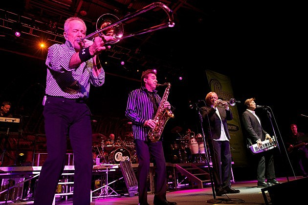 Chicago horn section: James Pankow, Walter Parazaider, Lee Loughnane, Robert Lamm and Jason Scheff 2014