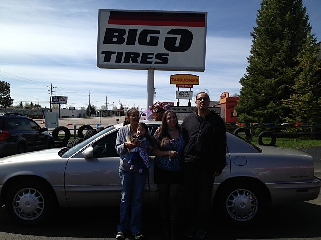 Big O Tires Driven for Moms Winner Ione Swallow and family 2014