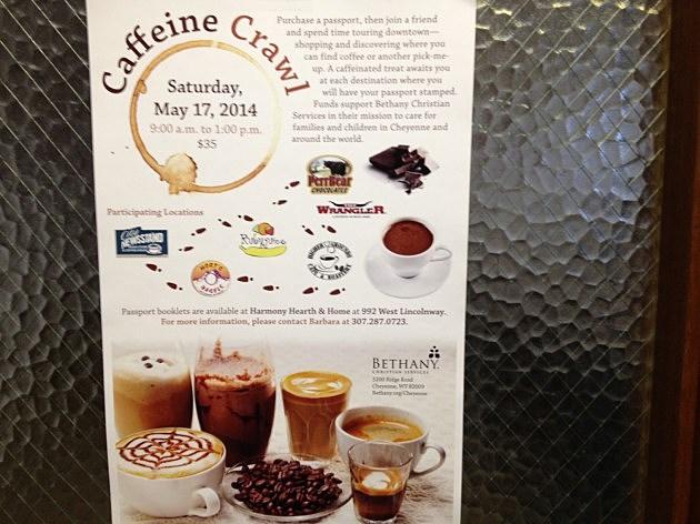 Caffeine Crawl poster 2014