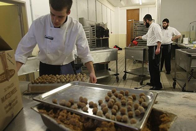 Chef's Preparing Matzoh Dumplings
