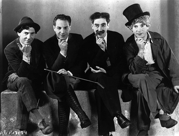 Chico, Zeppo, Groucho and Harpo Marx 1933