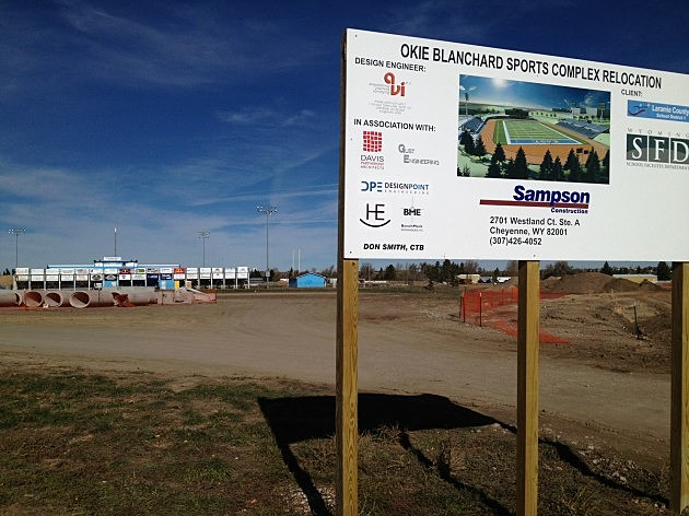 Okie Blanchard Sports Complex sign 2013
