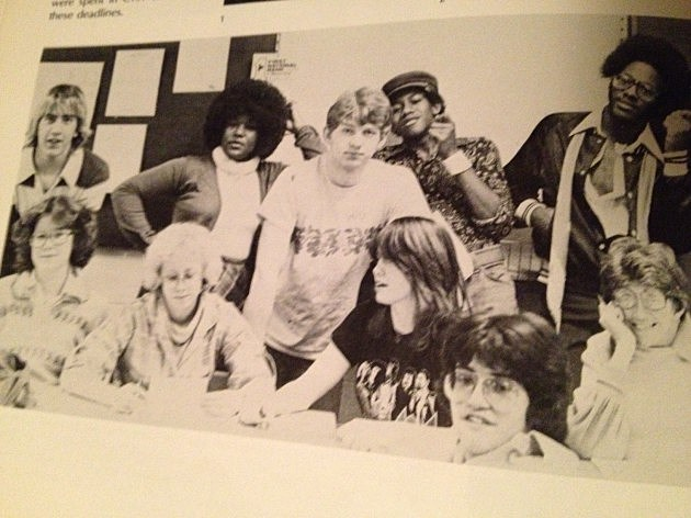 The 'Pow Wow' Yearbook Staff at Central High School 1979
