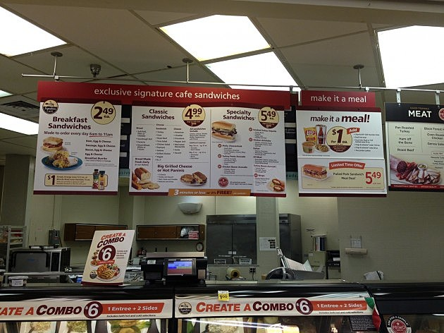 Safeway Deli Menu Cole Shopping Center 2014