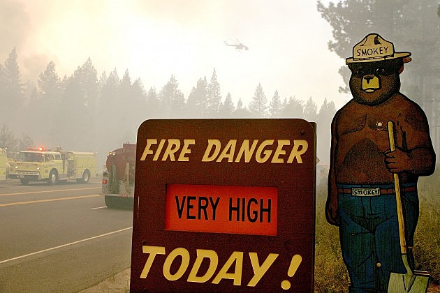 Smokey Bear sign near Lake Tahoe