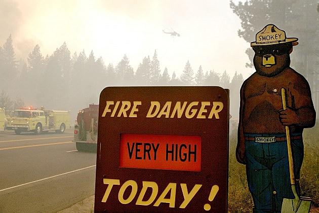 Smokey Bear sign near Lake Tahoe