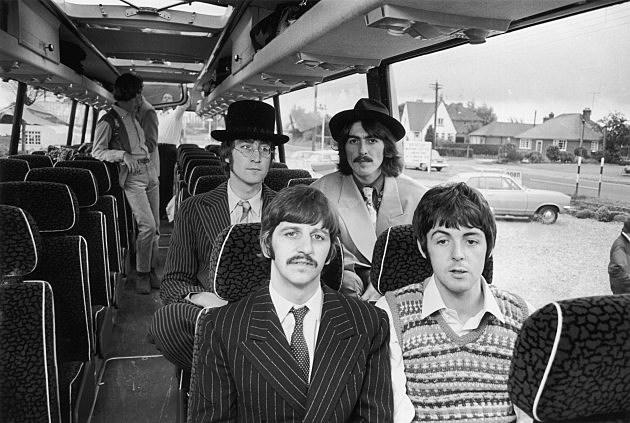 The Beatles filming 'Magical Mystery Tour' 1967