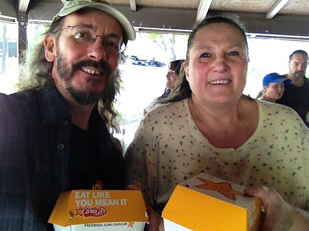 Grateful Mike with Carl's Jr. Winner Tammy Phippin