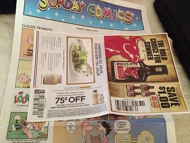 Grey Poupon Coupon from Sunday's newspaper