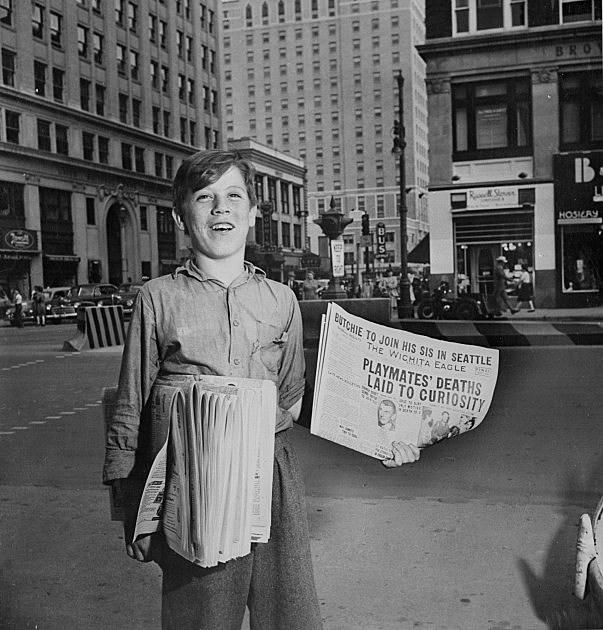 Paperboy in Kansas 1947