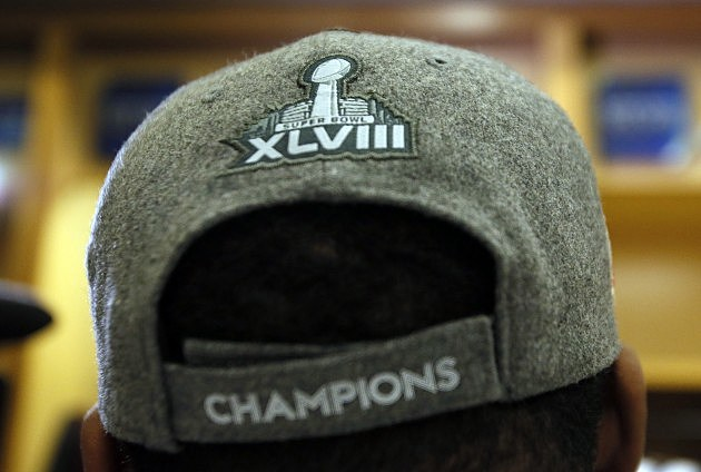 Super Bowl XLVIII Logo on Hat
