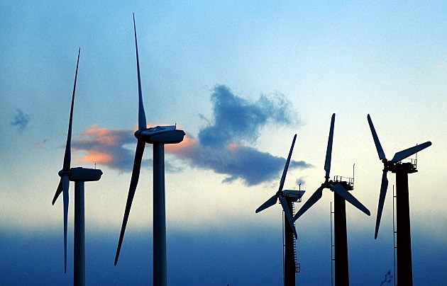 Wind Turbines at Sundown
