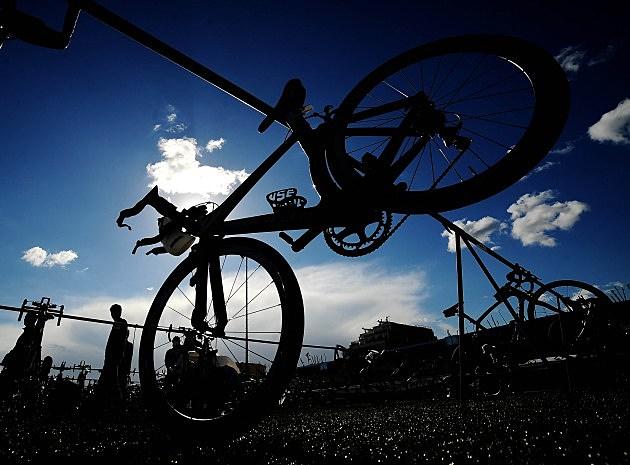 Bike Hanging in Bike Rack