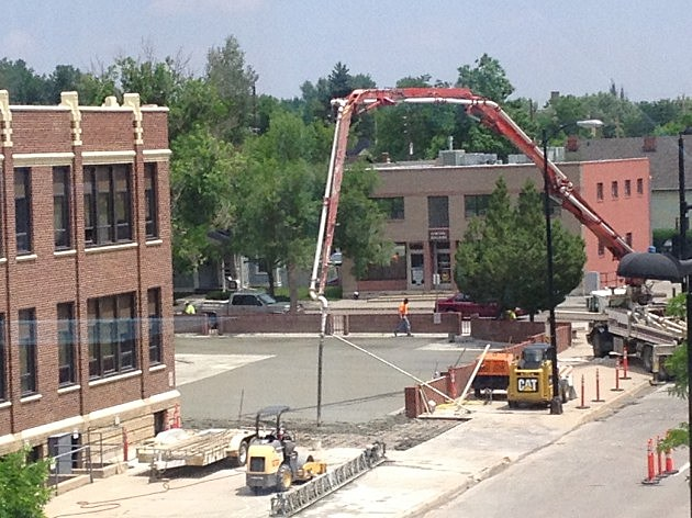 Concrete Poured onto Emerson Building Parking Lot 2014
