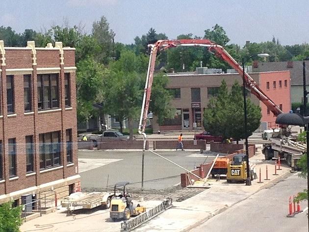 Concrete Poured onto Emerson Building Parking Lot 2014