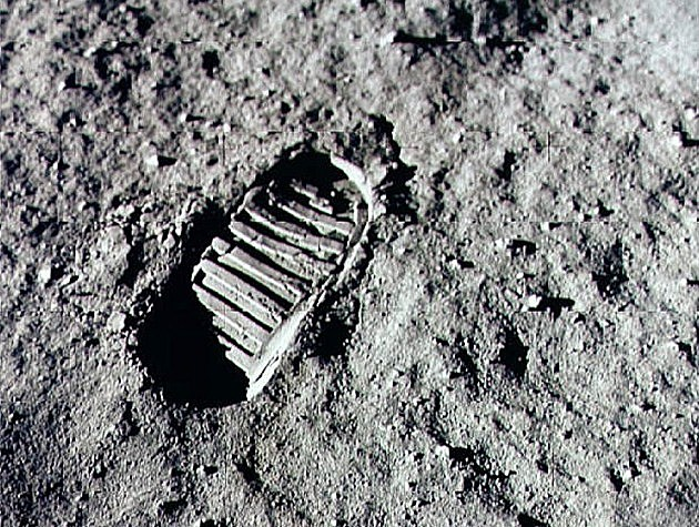 First Footprint on the Moon Apollo 11 July 20, 1969