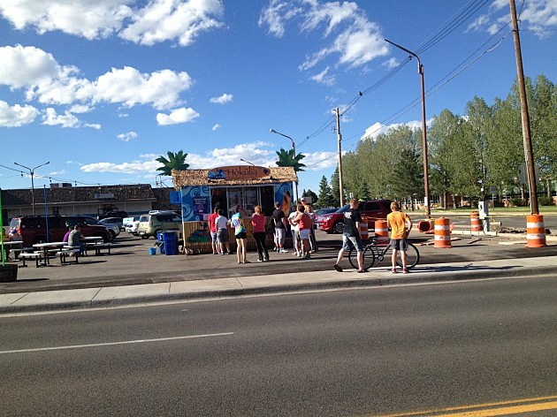 Hokulia Shaved Ice Stand on Pershing Boulevard