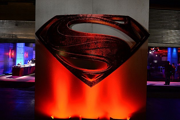 'Man Of Steel' Logo at Premiere 2013