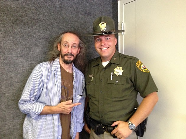 Grateful Mike with Trooper Gabe Testerman