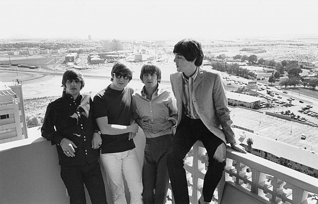 The Beatles on tour of USA in August 1964