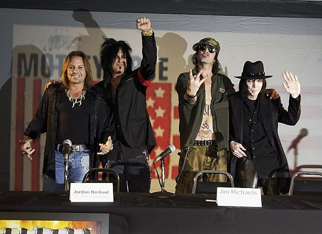 Motley Crue: Vince Neil, Nikki Sixx, Tommy Lee and Mick Mars in 2005