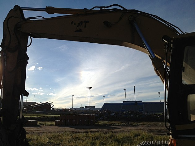 Okie Blanchard Stadium Visitor Stands Torn Down 81914