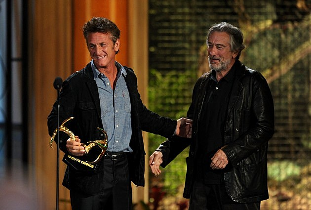 Sean Penn and Robert De Niro at the Guys Choice Awards 2011