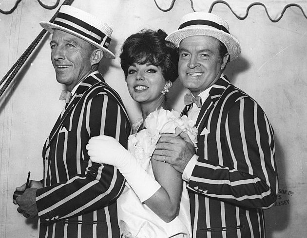 Bing Crosby, Joan Collins and Bob Hope 1961