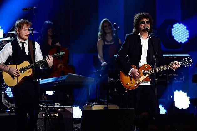 Jeff Lynne with Ed Sheeran Grammy Awards 2015