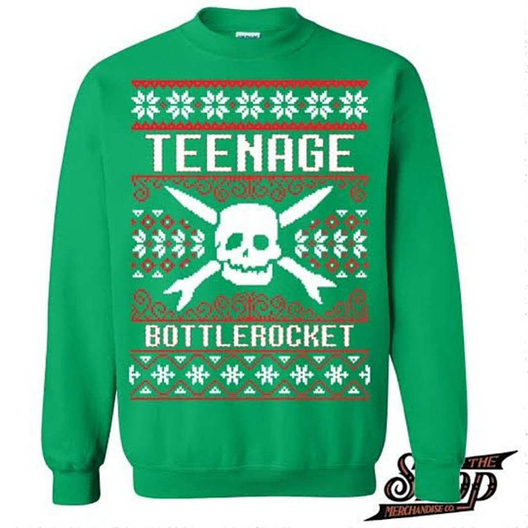 The Original TBR Holiday Sweater was released in 2013. TBR, Fat Wreck Records